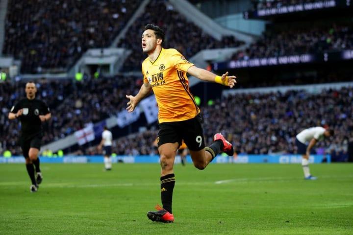 Jimenez bagged the winner against Spurs in Wolves' last victory against Tottenham