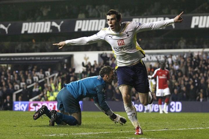 Gareth Bale celebrates doubling the lead