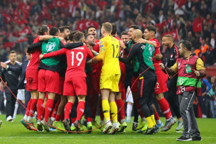 Turkey qualified automatically for Euro 2020 narrowly behind France