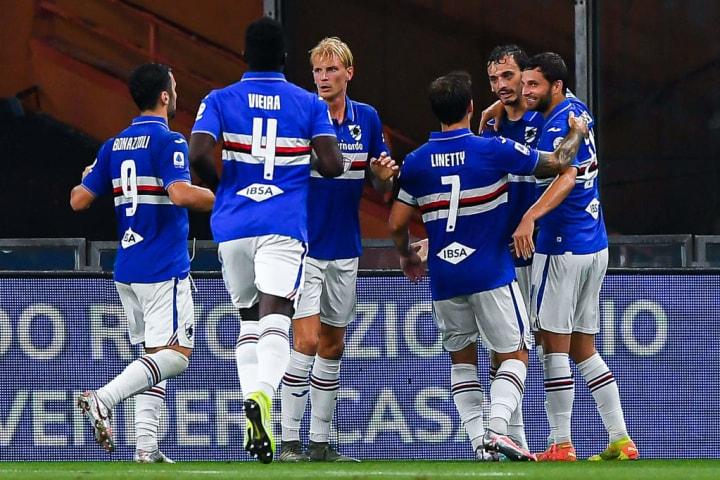Manolo Gabbiadini, Federico Bonazzoli, Ronaldo Vieira, Morten Thorsby, Karol Linetty