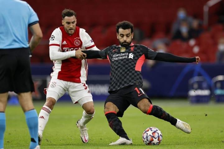 Mo Salah in action against Ajax