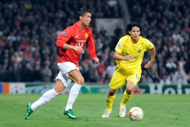 UEFA Champions League Manchester United v Villarreal at Old Trafford 2008