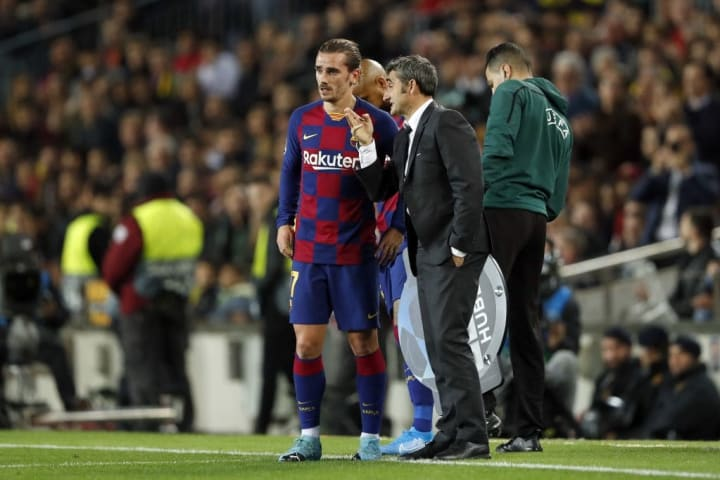 Ernesto Valverde utilised the Frenchman on the left wing in his 4-3-3
