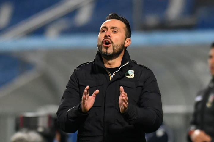 Sassuolo boss De Zerbi is in just his sixth year as a manager
