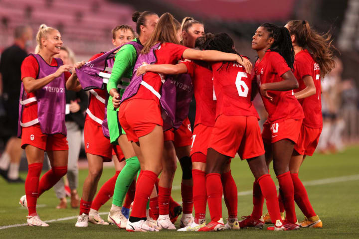 Canada are in their first Olympic women's football final