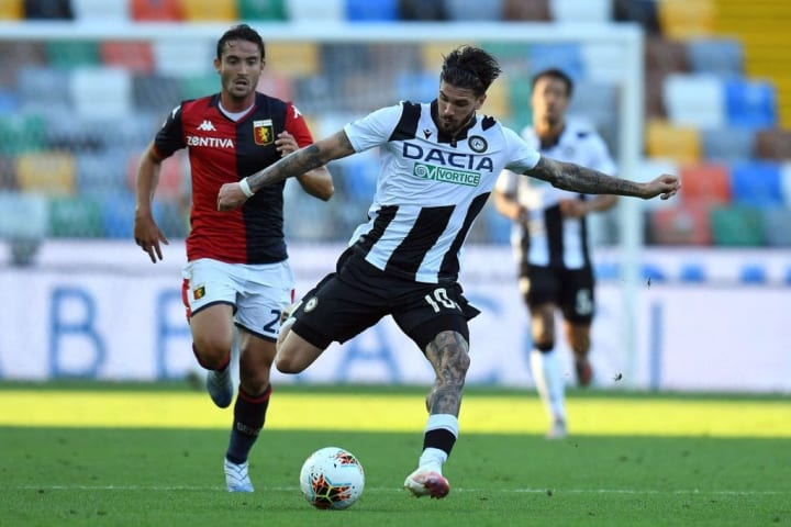 De Paul has scored 17 Serie A goals from open play for Udinese, more than half have come from outside the box
