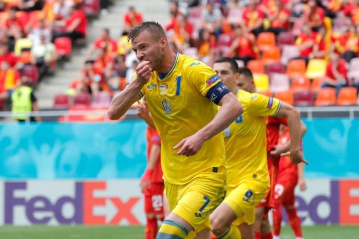 Andriy Yarmolenko Ucrânia Macedônia Eurocopa