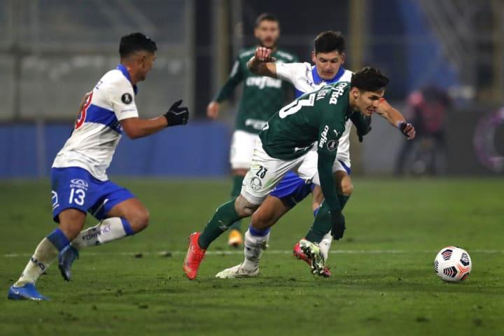 Raphael Veiga Alfonso Parot Palmeiras Universidad Católica Zebra Libertadores
