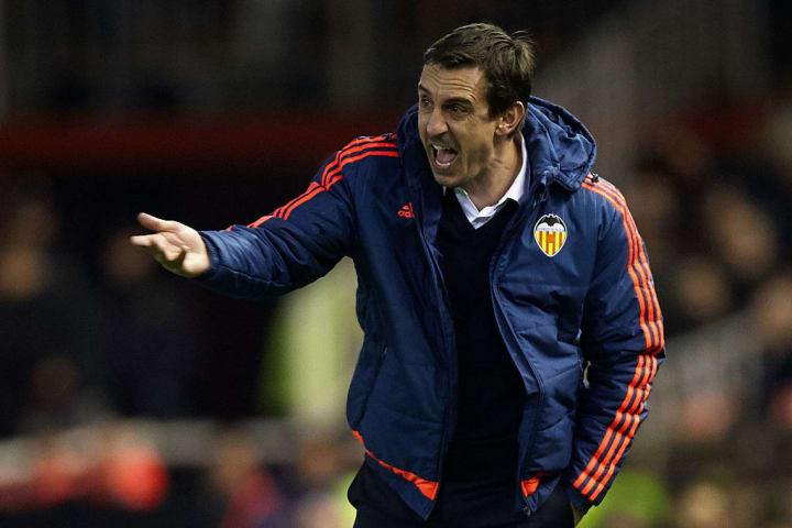 Gary Neville had a disastrous spell at Valencia