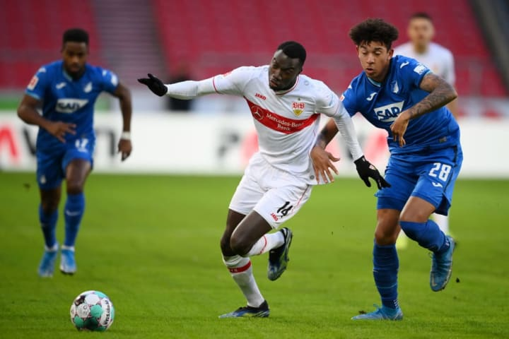 Chris Richards played for Hoffenheim against Stuttgart