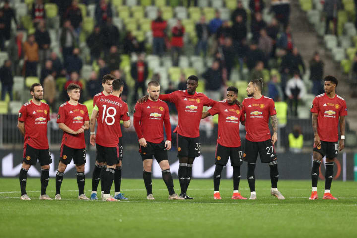 Man Utd lost the Europa League final on penalties to Villarreal