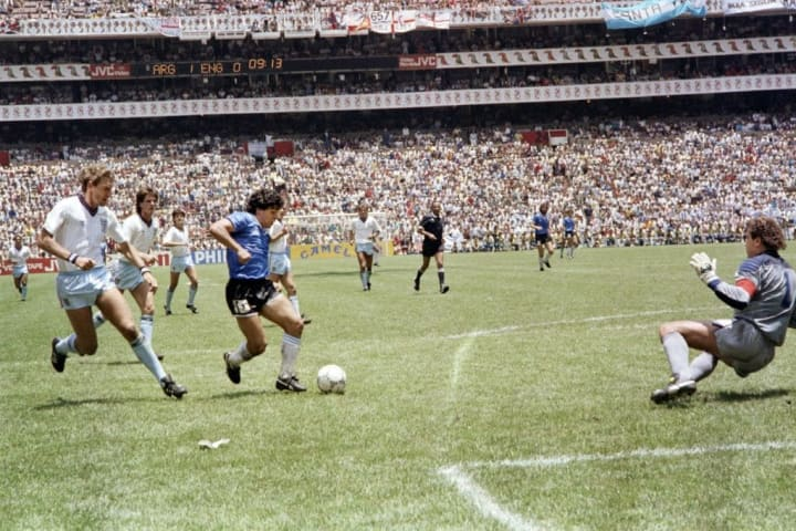 Maradona's goal against England at the 1986 World Cup is a thing of beauty