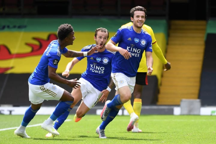 Ben Chilwell, Demarai Gray, James Maddison