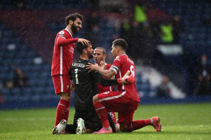 Alisson Becker, Mohamed Salah, Thiago Alcantara, Roberto Firmino