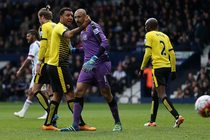 Gomes saved two Saido Berahino penalties against West Brom in April 2016