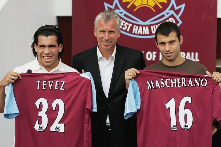 Carlos Tevez, Alan Pardew, Javier Mascherano