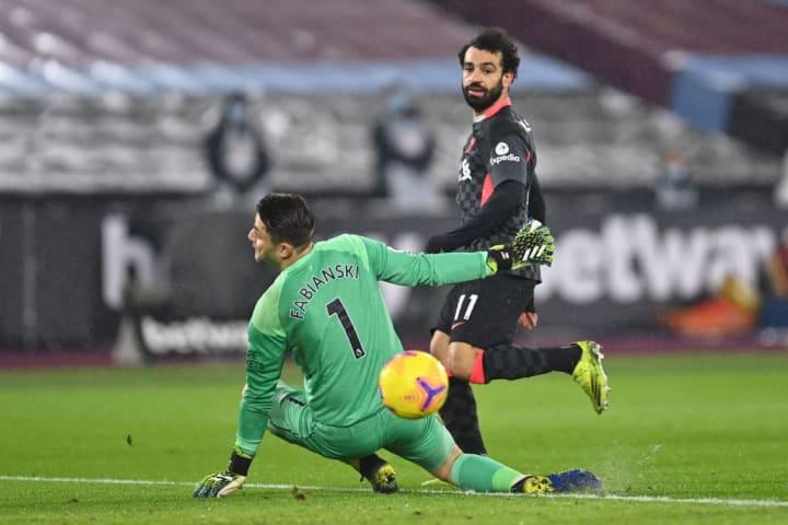 Mohamed Salah, Lukasz Fabianski