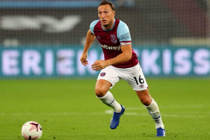 West Ham captain Mark Noble is likely to return to the starting XI following a foot injury