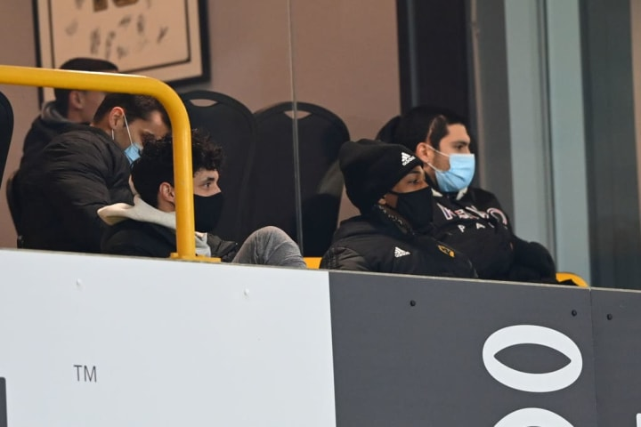 Jimenez has been watching from the stands following his serious head injury