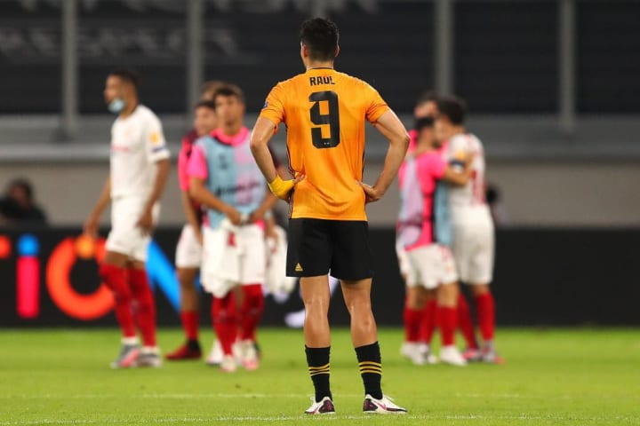 Jimenez missed a penalty as Wolves lost 1-0 to Sevilla in the Europa League quarter finals