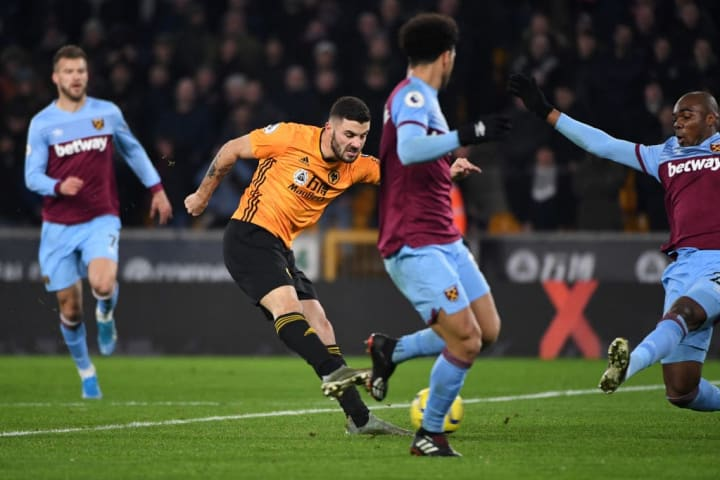 Cutrone sealed three points for Wolves in the reverse fixture in December
