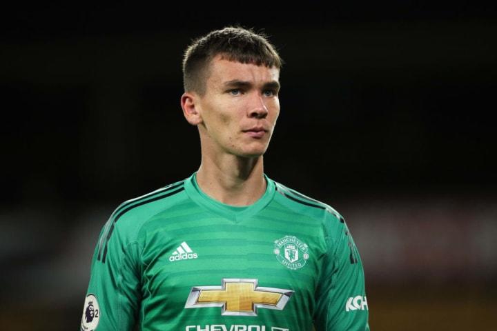 Manchester United's Matej Kovar