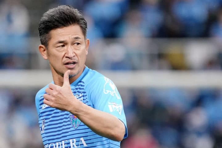 In his fifth decade as a professional footballer, Miura is still going strong