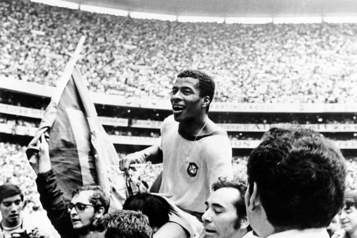 Brazilian forward Jairzinho at the 1970 World Cup