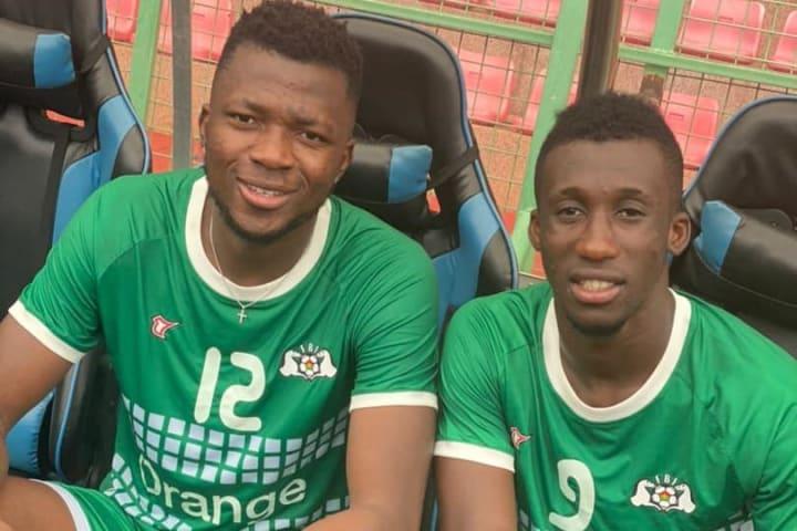 Edmond Tapsoba et Lamine Ouattara en sélection du Burkina Faso.