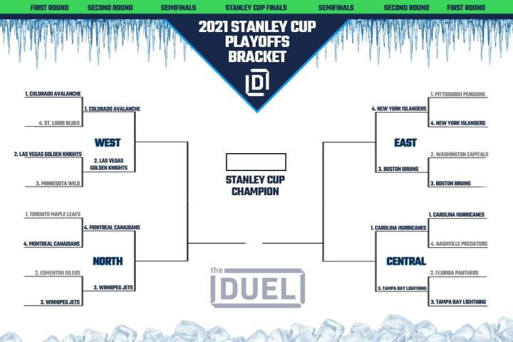 Stanley Cup Playoffs bracket through Round 2