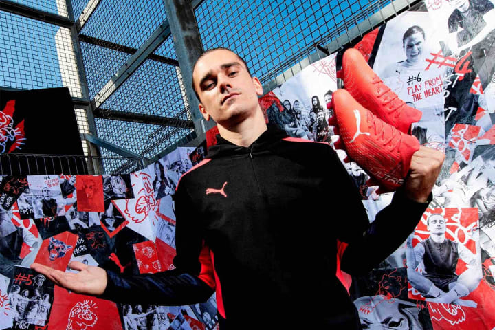 Griezmann with his new boots