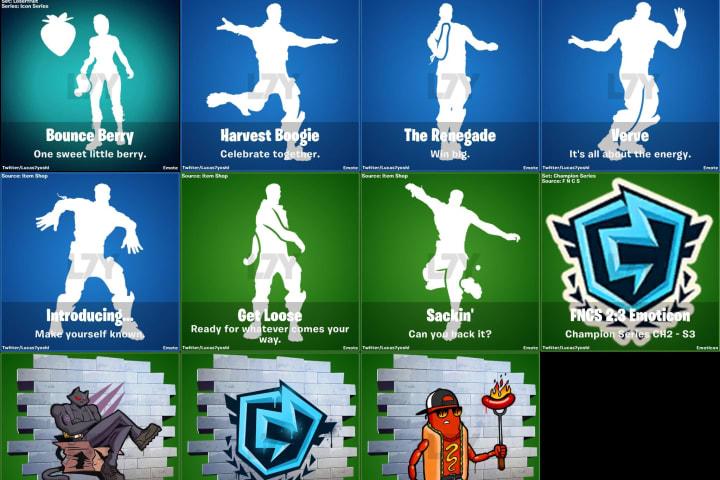 Fortnite Update 12.30 emotes and sprays.