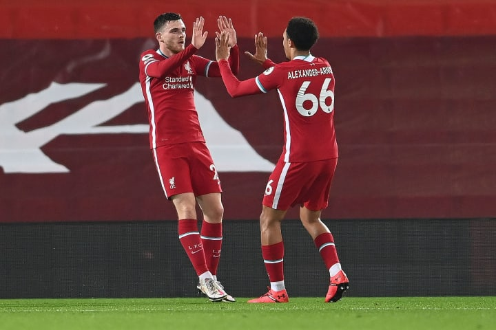 Andrew Robertson and Trent Alexander-Arnold Liverpool