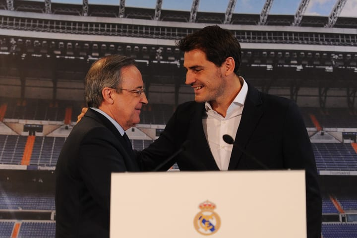 Iker Casillas bore the brunt of Perez's criticism too