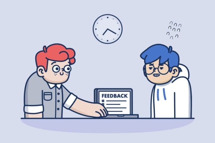 This is how a feedback process looks like