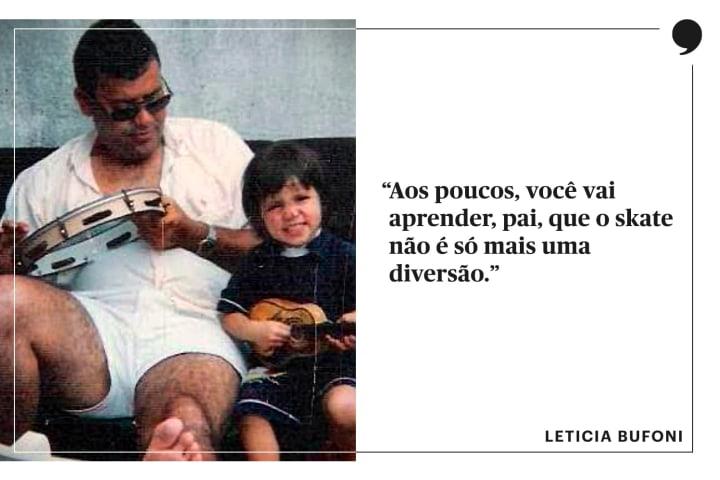 Leticia Bufoni pai crianca