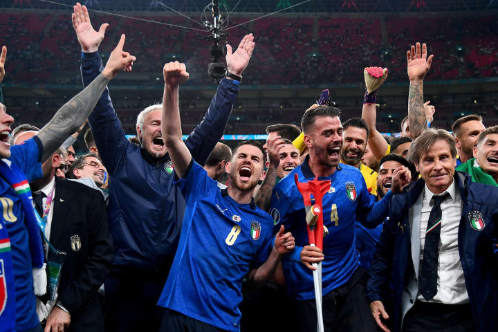 Jorginho campeao Euro Italia