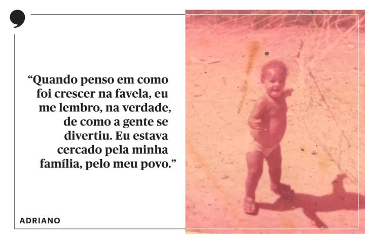Adriano Imperador criança favela