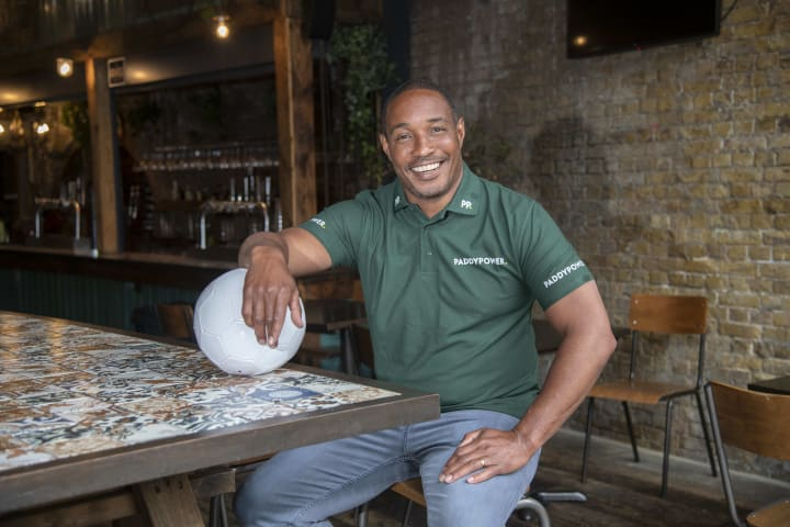 Paul Ince at the Flat Iron Square Paddy Park