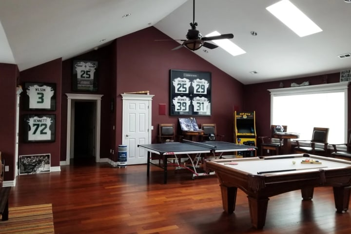 Every man needs a man cave. When I have the guys over, this is where we spend most of our time … with the original L.O.B. fully represented!