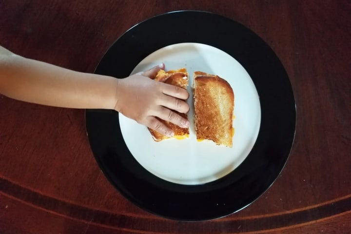 Can't live without it. Grilled cheese, bay bay!