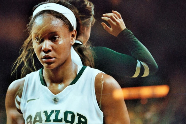 Nina Davis of the Baylor Bears shoots a free throw against Ole Miss on December 18, 2013 at the Ferrell Center in Waco, Texas.