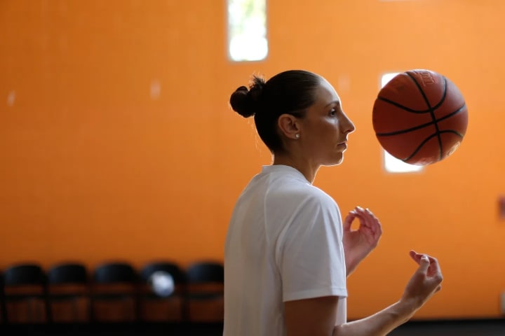 caught up with the Phoenix Mercury's Diana Taurasi in Manhattan Beach, CA, just down the road from her hometown of Chino.