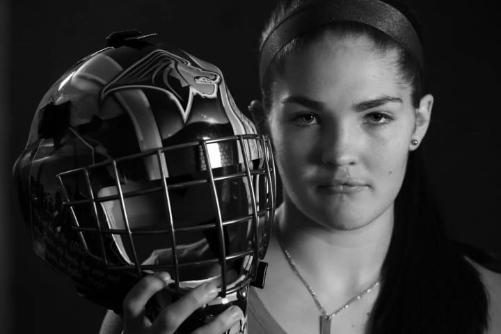 """— Goaltender #30: """"Your actions are not just a reflection of you, but of Team USA and the sport itself."""""""