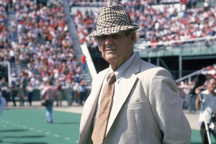 Alabama coach Bear Bryant before a game against Tennessee in 1981.