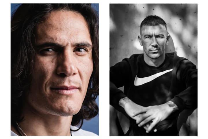 Edinson Cavani, forward, Uruguay. | Aleksandar Kolarov, defender, Serbia.