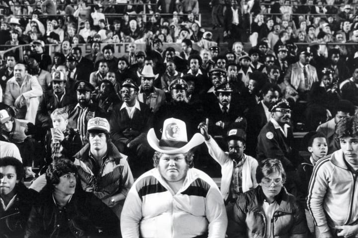 Fans at the 1981 Orange Bowl between Florida State and Oklahoma.
