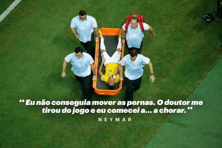 Neymar machucado Copa