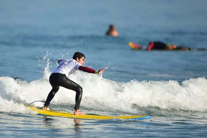 Despite losing his surfboard in the recent tsunami in Chile, Retamales travelled to La Jolla to compete, placing second in his heat.