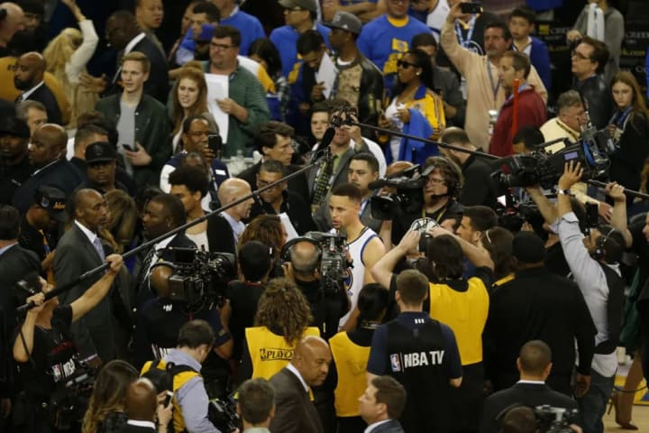 Memphis Grizzlies take on the Golden State Warriors at Oracle Arena on April 13, 2016. The Warriors at 72 wins are going after the all time NBA record